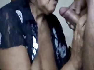 naughty mommy drinking cum