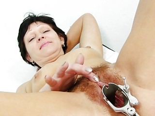 fuckable brunette hair granny acquires her bushy