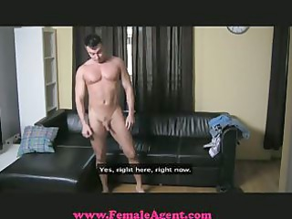 femaleagent - ballsy casting chap gets dominated