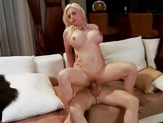 pale golden-haired milf with enormous boobs