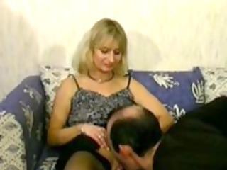 golden-haired older cheats on her husband