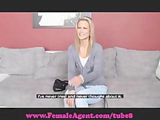 femaleagent. bisexual blonde girl