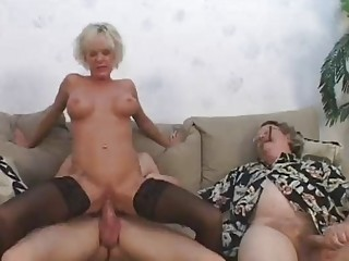 hot aged gives show 2 hubby