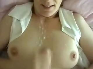 horny wife private spunk fountain on mounds