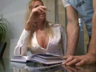 real wife plays his excited secretary