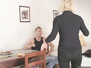 old blond rides his rigid rod