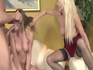lascivious mature and daughter fucking lad jointly