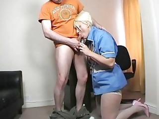 juvenile golden-haired mother i nurse blows hard