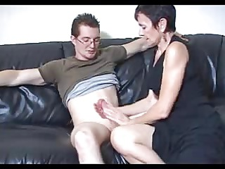 shorthaired granny likes large cock