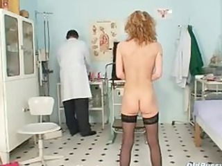 skinny mother i nora gyno clinic exam by