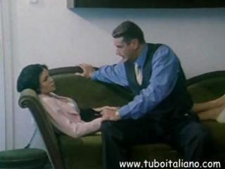 brunette hair italian wife receives licked and