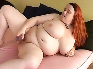 bust redhead d like to fuck fatty toys her bulky