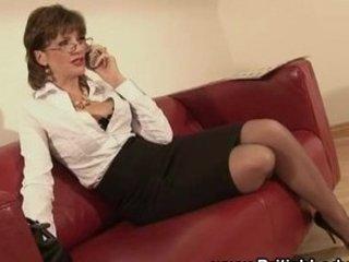 british older lady foreplaying