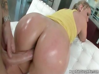 busty golden-haired wench goes avid sucking part8