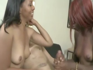 ebon mama and legal age teenager duo satisfying