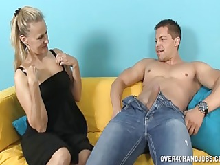 excited milf strokes a rod