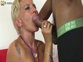 sexy white mama in an interracial fuckfest