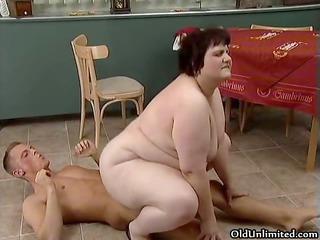 chubby older whore goes insane engulfing part7