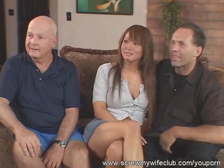 hubby watched wife drilled by two hard dongs
