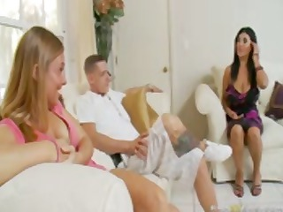 brunette mom, jaylene rio has massive tits and