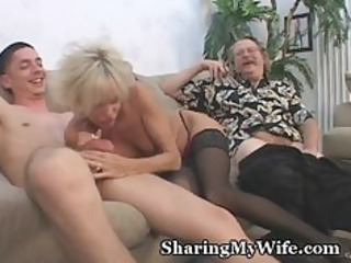 mature pair in 5some sex game