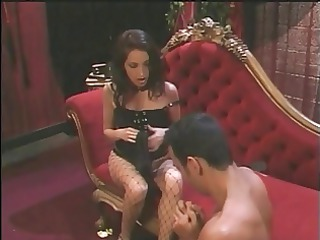 hot brunette mistress foot copulates guy&s