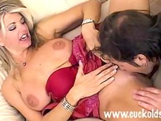 hot cuckold wife vicky vette copulates the gardner