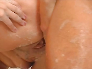 breasty mature bathroom sex