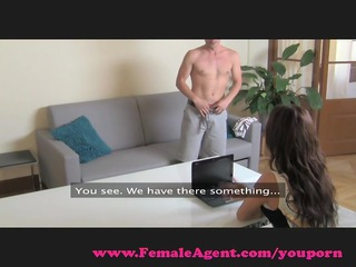 femaleagent. d like to fuck exploits shy lad in
