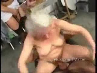granny threesome! sexy