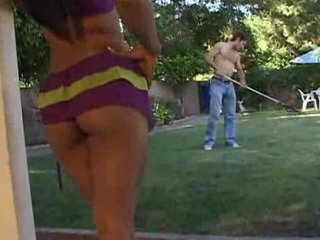 lyla lei as the dirty wife gagging on gardener