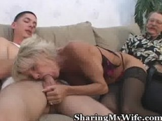 older gal offered by open-minded hubby