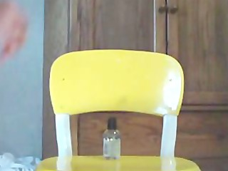 angel masturbate on yellow chair
