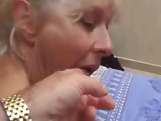 french aged blonde eats cock and acquires the one