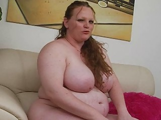 pale biggest redhead momma uses her fresh sex toy