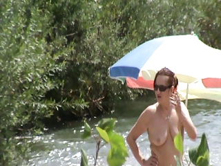 exposed beach milf