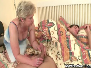 penis hungry granny copulates her son in law