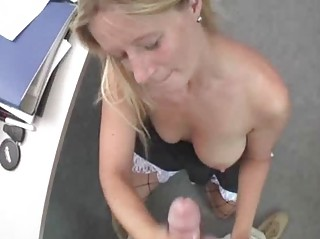 breasty non-professional wife orall-service with