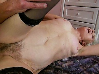 granny enjoys wicked sex with young chap