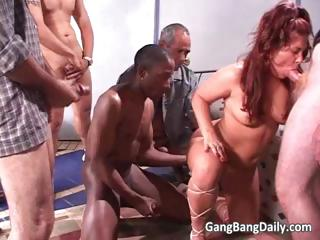 divorced fat mama acquires gang gangbanged part11