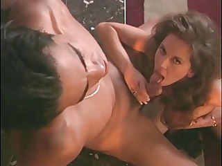 brunette hair with large tits receives her pussy
