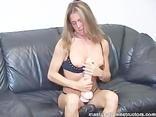 rubbing a huge vibrator between jerk off teachers