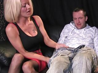 breasty blonde milf in wild oral pleasure cfnm act