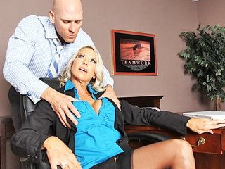 large tit golden-haired mother i boss in