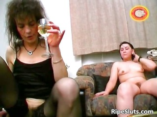 excited aged brunette hair acquires shaggy pussy