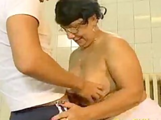 crazy old mamma receives drilled hard and does