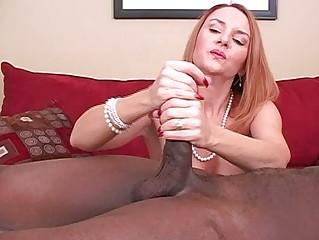 older amateur wife interracial cuckold handjobs