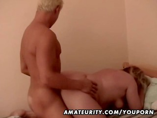 bulky non-professional aged wife screwed by a