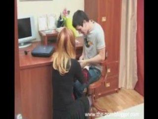 russian mamma fucks her son's best ally