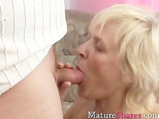corpulent mature alice with her fresh boy